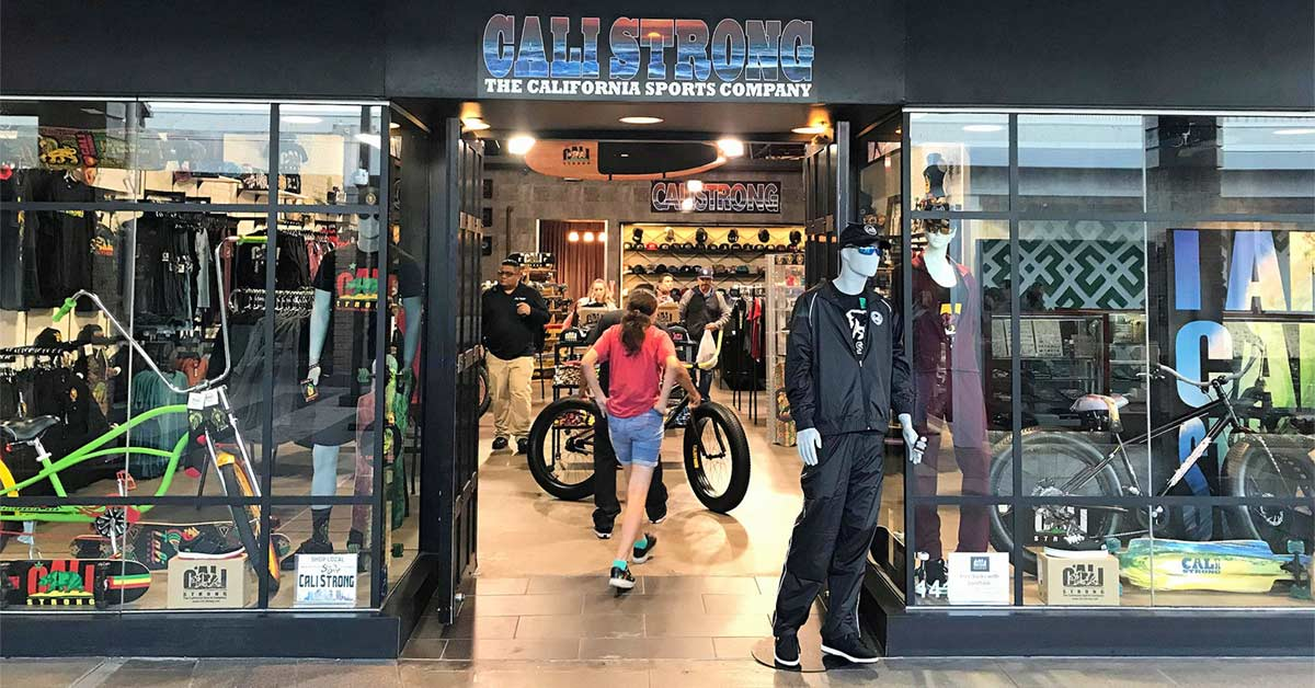 CALI Strong: The California Sports Company Store Is Located Inside The Westfield Mission Valley In San Diego, California Along With 114 Stores,16 Restaurants, And AMC Theatres.