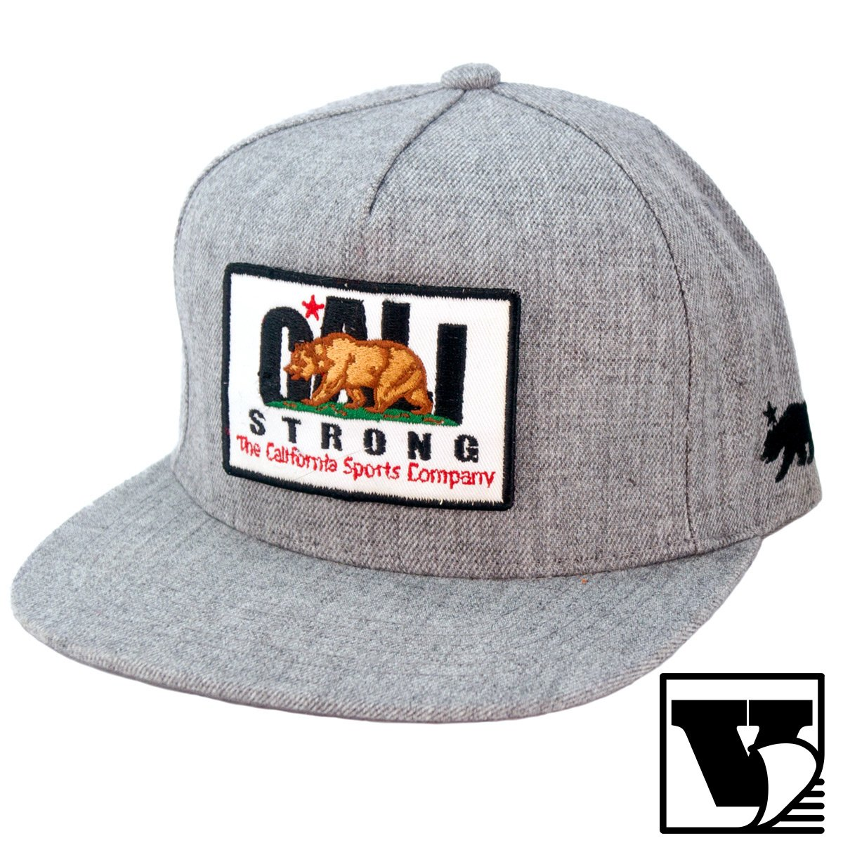 The CALI Strong Tactical Hat with Velcro Patch is a 5 Panel Hard Buckram  Flat Bill 9a1cf7aa5d3